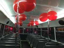 Red Balloons & Streamers